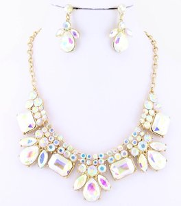 Gold Crystal Jewelry Set
