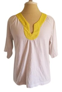 Tommy Hilfiger Top White and Yellow