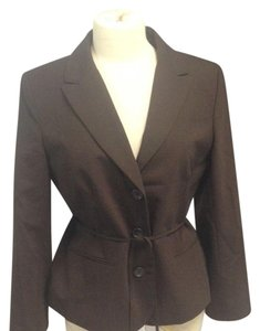Ann Taylor LOFT ANN TAYLOR LOFT WOOL BLEND BROWN DETAILED PANT Suit