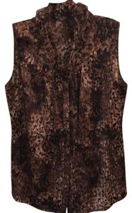 Elie Tahari Top brown,tan,black