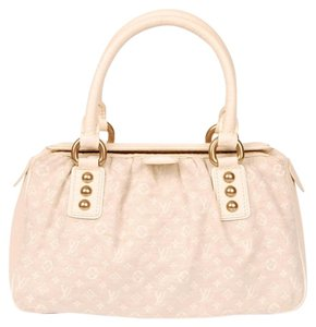 Louis Vuitton Mini Lin Monogram Canvas Leather Satchel in IVORY