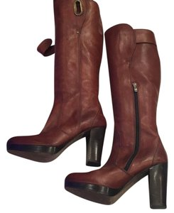 Barbara Bui rich brown leather Boots