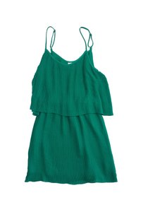 Parker short dress Green Pleated Layered Spaghetti Strap on Tradesy