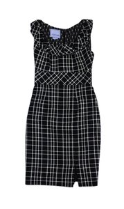 Kay Unger short dress Black White Tweed Sleeveless on Tradesy