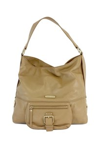 Michael Kors Camel Grainy Leather Hobo Bag