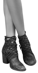 Free People Carrera Heel Black Crosscross Caged Sz 40 Boots