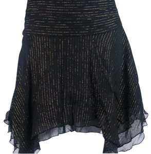 Express Skirt Black and gold