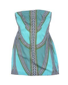 Mara Hoffman short dress Aqua Abstract Print Strapless on Tradesy