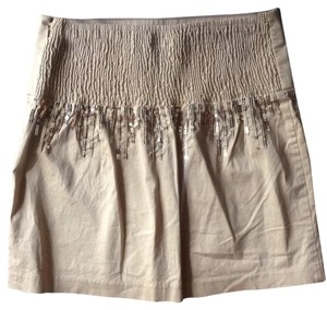 Free People Mini Skirt Gold