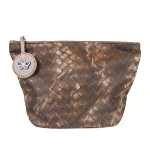 Bottega Veneta New Authentic Intrecciolusion Nylon Cosmetic Bag Pouch 301183 2515
