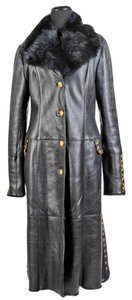 Versace Leather Shearling Fur Coat