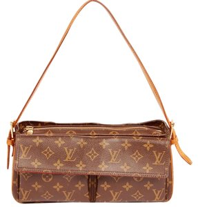 Louis Vuitton Monogram Viva Cite Satchels Canvas Shoulder Bag