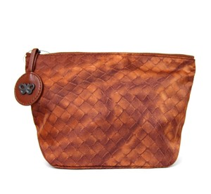 Bottega Veneta New Authentic Intrecciolusion Nylon Cosmetic Bag Pouch 301183 6318