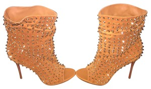Christian Louboutin Guerilla Bootie Stud Studded Fauve Boots