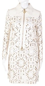 Versace Leather White Leather Jacket