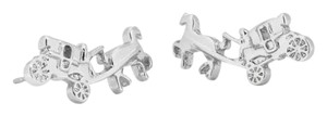 Coach Coach Horse and Carriage Earrings
