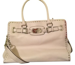 Michael Kors Mk Leather Large Tote in Whipped Vanilla