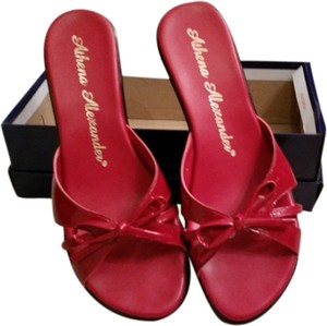 2064a91d5a00a Athena Alexander Glossy Red Sandals