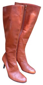 DKNY Leather Knee-high Burnt Orange Boots