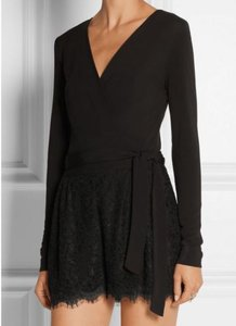 Diane von Furstenberg Romper Lace Dvf Mini Wrap Dress