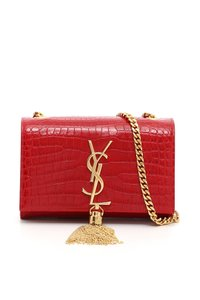 Saint Laurent Monogram Gold Tassel Cross Body Bag