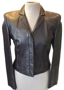 Worth Silver/ pewter Leather Jacket