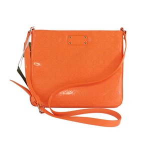 Kate Spade Neon Orange Patent Leather Shoulder Bag