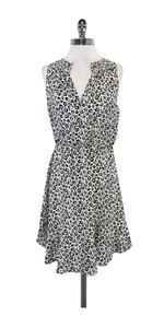 Rebecca Taylor short dress White Black Leopard Print Silk on Tradesy