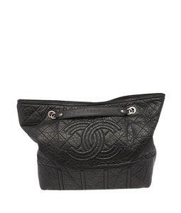 Chanel Crinkle Chain Tote in Black