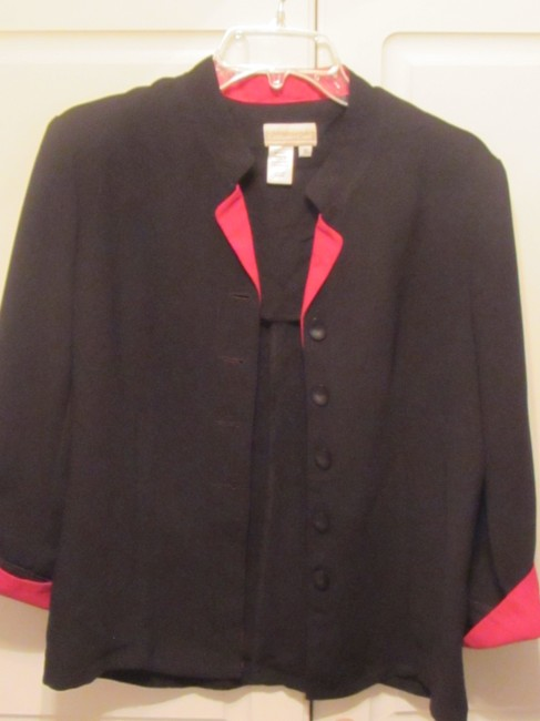 Coldwater Creek black with red trim Jacket