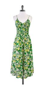 Maxi Dress by Rebecca Taylor Green Floral Silk Maxi