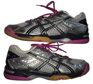 Asics Structured Silver and Pink Athletic
