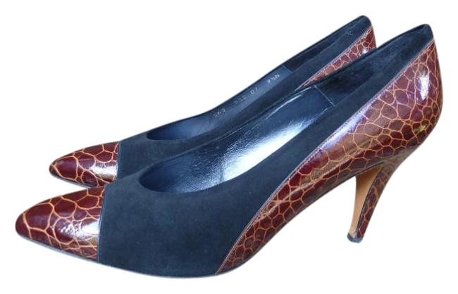Item - Black and Brown Two-tone Pumps Size US 9.5 Narrow (Aa, N)