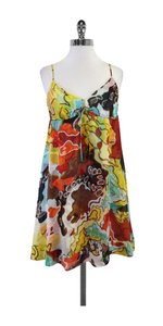 Diane von Furstenberg short dress Multi Color Silk Spaghetti on Tradesy