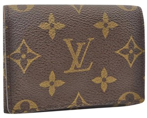 Louis Vuitton Monogram Envelppoe Cartes De Visite ID Name Card Case Mens
