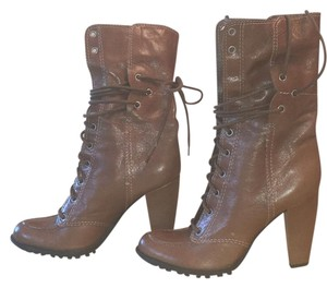 7 For All Mankind Leather Lace Light brown Boots