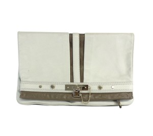 Marc by Marc Jacobs White Taupe Foldover Clutch