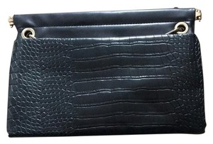 Zara Black, Green Clutch