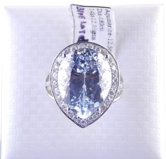 Preload https://item1.tradesy.com/images/white-impressive-pear-shape-aquamarine-with-diamonds-around-ring-1967965-0-0.jpg?width=440&height=440
