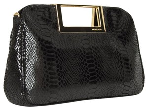 Michael Kors Python Black Clutch