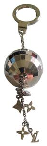 Louis Vuitton Louis Vuitton Silver-Tone Disco Ball with Charms Key Chain