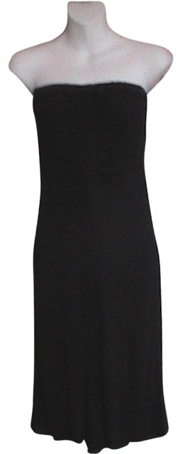 Black Strapless Knee Length Cocktail Dress Size 0 (XS) Black Strapless Knee Length Cocktail Dress Size 0 (XS) Image 1