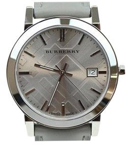 Burberry Women's Swiss Silver Tone Gray Leather 38mm