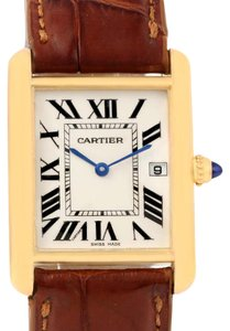Cartier Cartier Tank Louis 18k Yellow Gold Brown Strap Quartz Watch W1529756