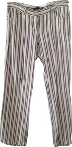 Les Copains Casual Relaxed Pants Stripes