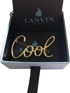 Lanvin Lanvin Gold-Tone Cool Brooch - This item is Sold Out