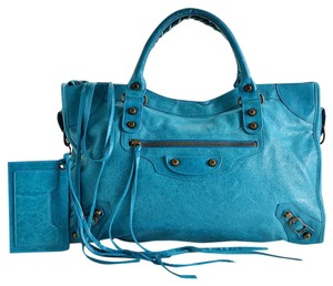 Balenciaga City Satchel in Turquoise