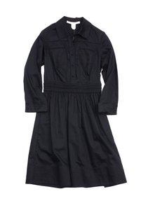 Diane von Furstenberg short dress Black Button Up Collared on Tradesy