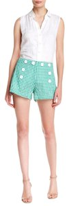 Max Studio Green Dress Shorts Green/White