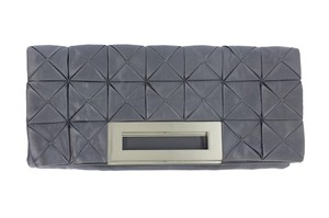 Francesco Biasia Silver Quilted Foldover Clutch